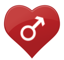 hart pictogram man