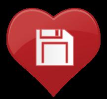 hart pictogram disket