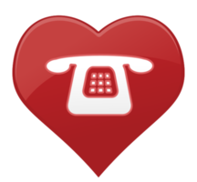 hart pictogram telefoon