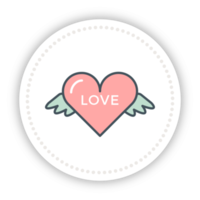 Heart cute wing png