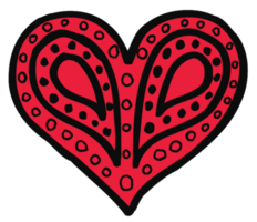 Heart hand drawn png