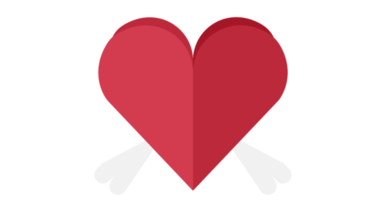 Heart wing png