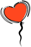 Heart ballon png