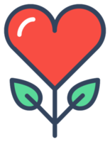 Flat line heart