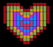 Herz pixelig