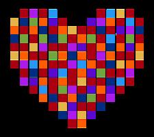 pixelate coração