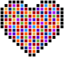 cuore pixelato
