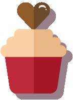 Herz Cupcake