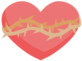 Heart with thorn png