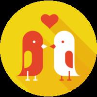 Heart love bird png