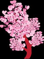 árvore de corações