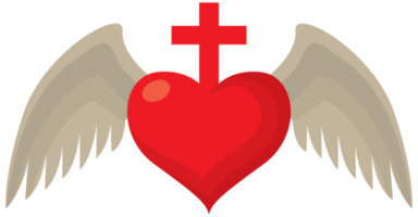 Sacred heart wing png