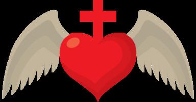 asa do coração sagrado