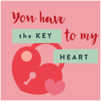 Heart valentines's card