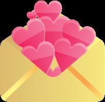 envelope de coração