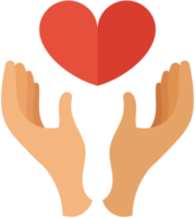 Heart wedding hand png