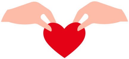 Heart helping hand png
