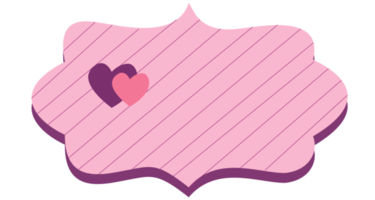 Love label png