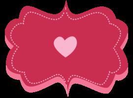 etiqueta de amor png