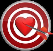 corazón con dardo
