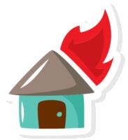 casa dei pompieri in fiamme png