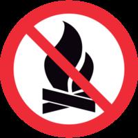 aucun signe de feu