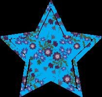 estrela da forma da decoração da flor