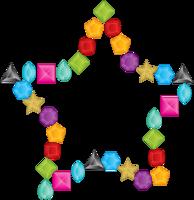 estrela de layout de diamante