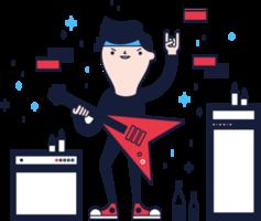 personagem de estrela do rock