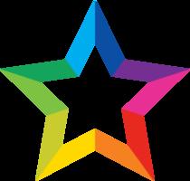 étoile arc-en-ciel png