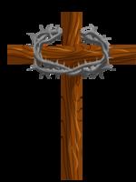 cruz coroa espinho png