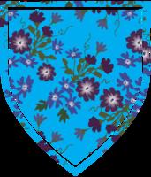 scudo a forma di decorazione floreale