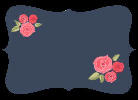 Flower label png