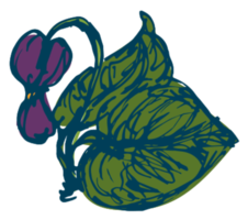 Hand drawn flower png