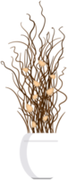 Dried flower pot png