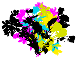 blomma grunge graffiti png