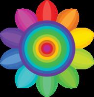 Rainbow flower png