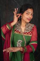 pretty woman in traditional costume photo
