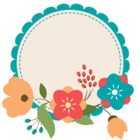 marco floral png