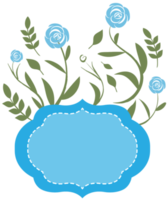cornice floreale blu