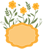 cornice floreale gialla