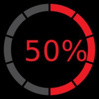 cerchio preloader 50%