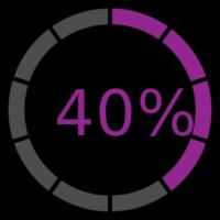 cerchio preloader 40%