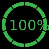 cerchio preloader 100%
