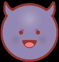 Emoji face circle evil png
