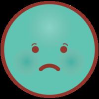 Emoji face circle sad png
