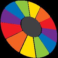 ruota che gira arcobaleno