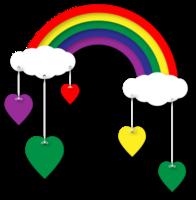 regenboog en wolk