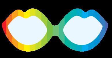 óculos de arco-íris
