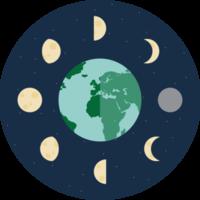 icona della fase lunare